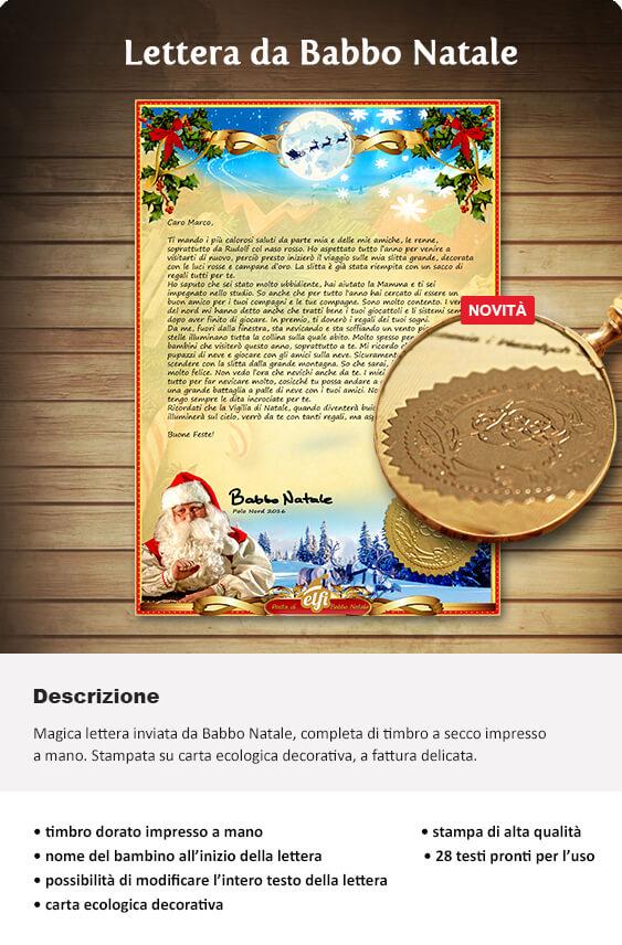 Le Lettere Di Babbo Natale.La Lettera Di Babbo Natale Letterina