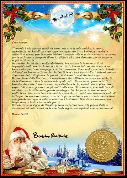 Dove Si Trova Ora Babbo Natale.La Lettera Di Babbo Natale Letterina