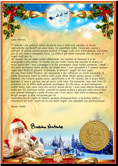Immagini Di Lettere Per Babbo Natale.La Lettera Di Babbo Natale Letterina