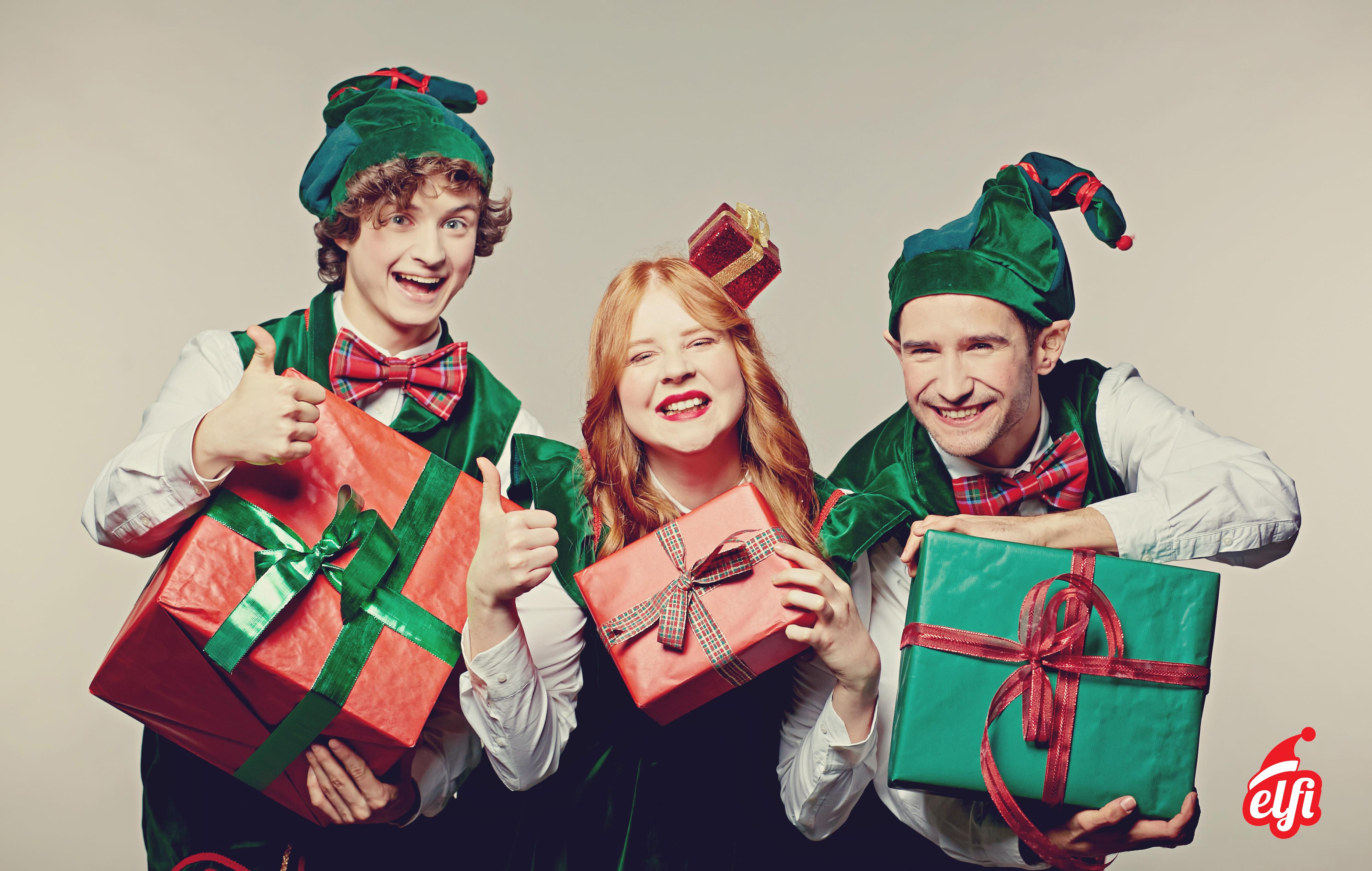 Bambini Che Scartano I Regali Di Natale.Regali Di Natale Regalo Bambini Elfi