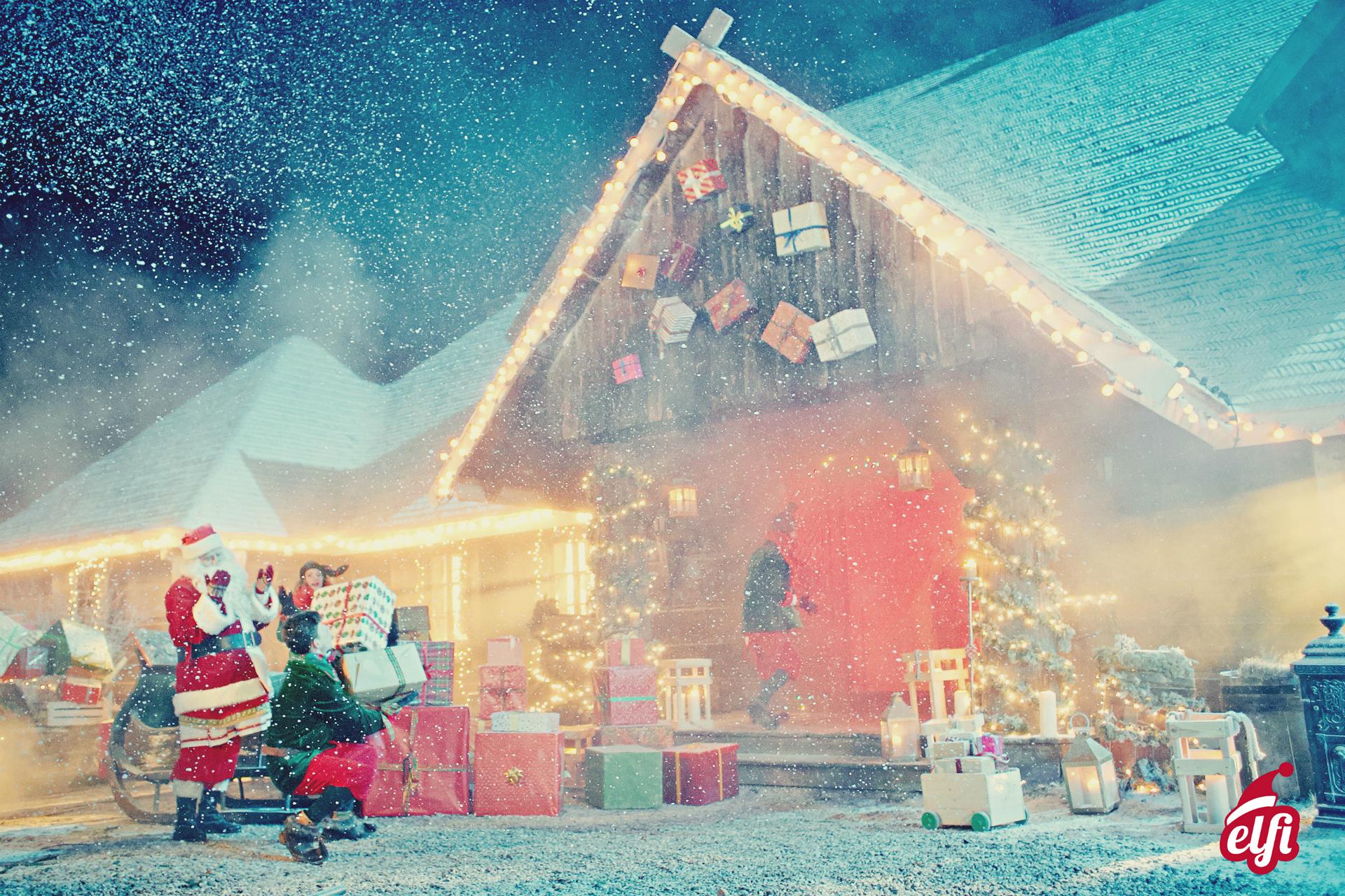 Dove Si Trova In Questo Momento Babbo Natale.Villaggio Di Babbo Natale Elfi